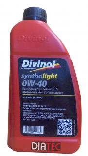 Divinol Syntholight 0W40/1Liter