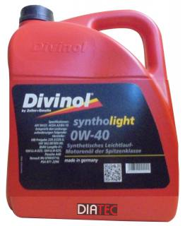 Divinol Syntholight 0W40/5Liter